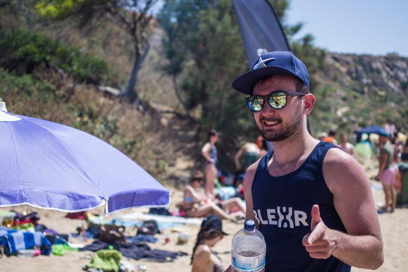 Blexr boy on the beach