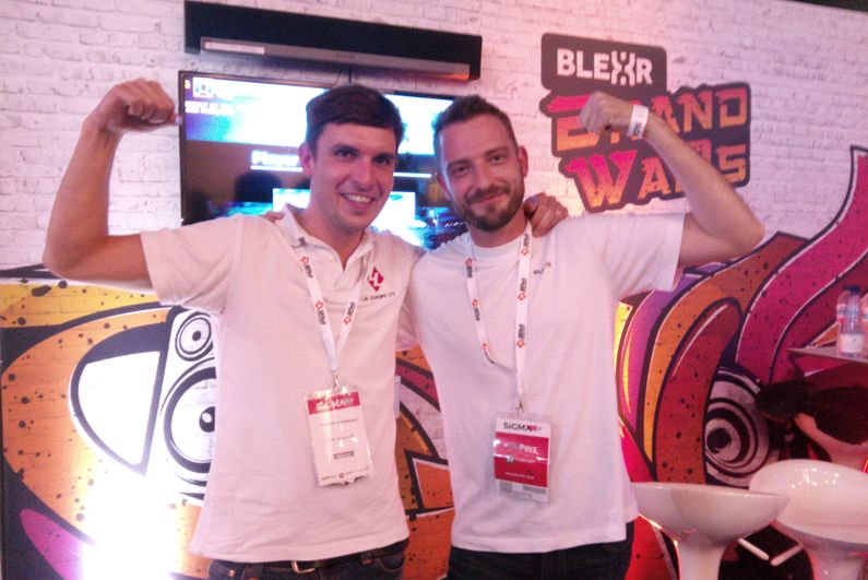 Massimo Matteazzi (left) with Lee Gwilliam, Blexr's head of commercial