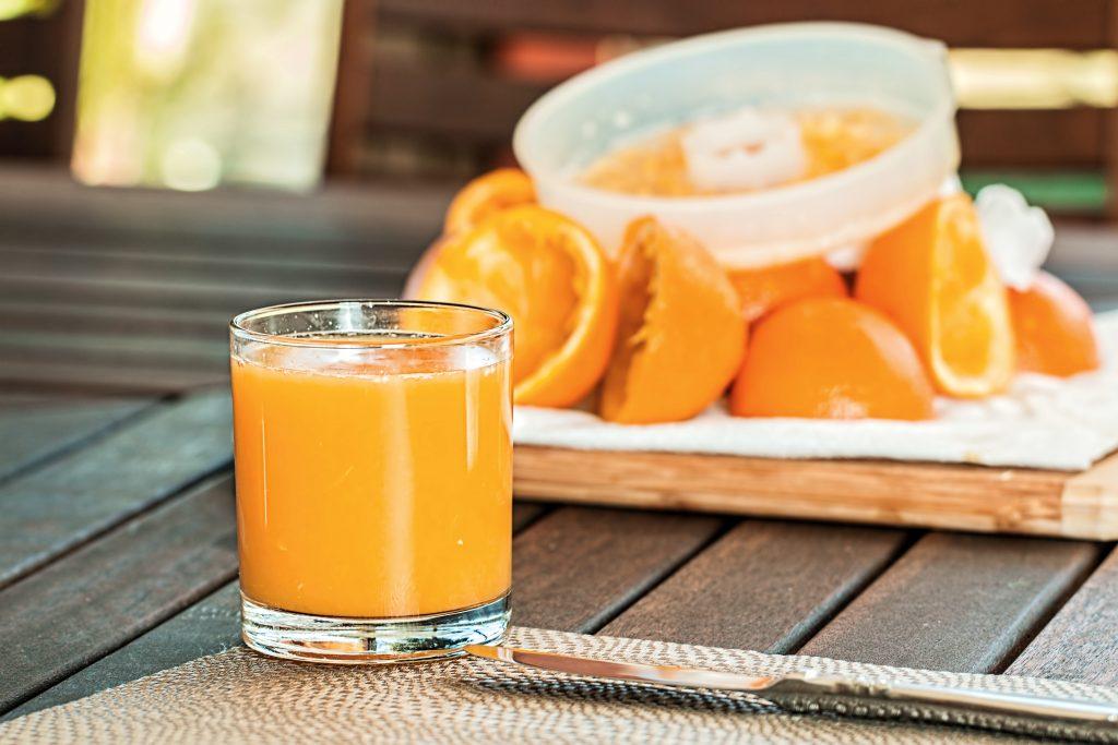 orange juice i glss